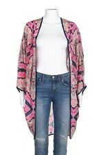 FEATHER BY TOLANI Boho Flowy Cardigan One Size Pink Blue Kimono Open Print Top