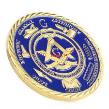 Gold Plated Under Free-mason Fatherhood of God Challenge Commemorative Coin Gift