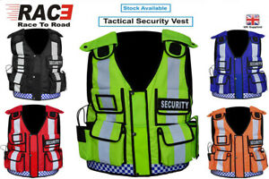New Hi Viz Tactical Security Dog Handler Vest Paramedic CCTV Tac Vest