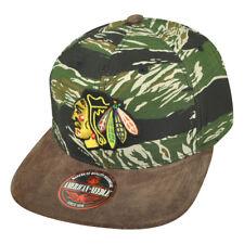 NHL American Needle Chicago Blackhawks Camouflage Snap Buckle Hat Cap Flat  Bill e48e95c30eb2