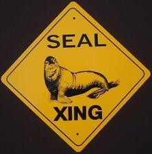 Seal Aluminum Xing Sign picture art decor signs home novelty animals wildlife
