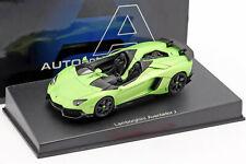 Lamborghini Aventador J Roadster Año 2012 Verde/negro 1 43 Autoart