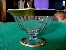 "Tiffin Franciscan MINTON (?) Pedestal Stemmed Compote Bowl 4 1/2"" Tall Gold Trim"