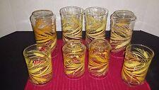 Set of 8 Libbey Golden Wheat Glass 4-10 oz Beverage & 4-6 oz Juice Tumblers
