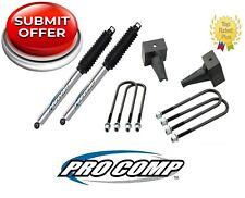 "Procomp 3"" Rear Lift Blocks & U-Bolts w/Mono-Tube Shocks for 2009-13 Ford F-150"