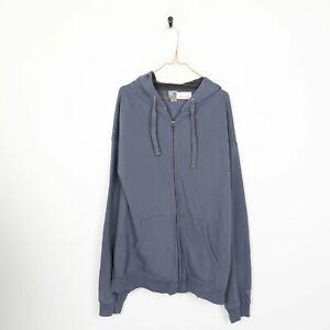 CHAMPION Small Logo Hoodie Sweatshirt Grey | XXL