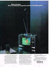Publicité Advertising 1974 Téléviseur Sony Trinitron
