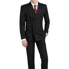 Men Black Stripes Suit Stylish Designer Wedding Casual Dinner Suits (Coat+Pant)K
