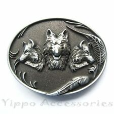 Wolves Wolf Animal Western Metal Belt Buckle