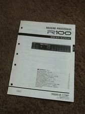 Yamaha Reverb Processor R100 Service Manual Schematics Parts List FACTORY R-100