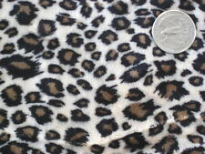 BABY LEOPARD PRINT WILD CAT ANIMAL MINKY FABRIC CUDDLE SEW QUILT CRAFT cut 30x36