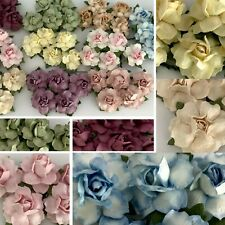 """1"""" or 2.5 cm Mixed Small DIY Rose Paper Flower Wedding Craft Scrapbook R19/A-2"""