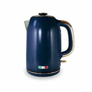 Vintage Electric Kettle Copper Blue 1.7L Stainless Steel Auto OFF - Not Delonghi