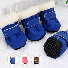 Winter Warm Dog Snow Shoes Non Slip Small Medium Boots Booties Paw Protection