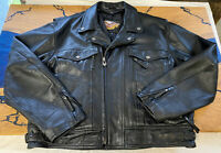 Harley Davidson Nevada Leather Jacket Liner 2XL Vents Double Rider Black Awesome