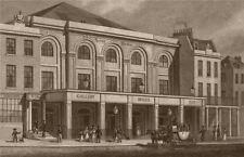 LAMBETH. Surrey Theatre, Blackfriars Road. London. SHEPHERD 1828 old print
