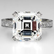 Asscher Cut Platinum GIA Certified Diamond Engagement Ring in 5.00 Carat