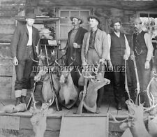 ANTIQUE REPRINT 8X10 PHOTO EARLY TAXIDERMY WINCHESTER 1873 1876 REMINGTON RIFLE