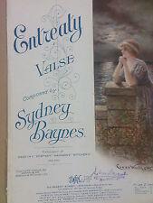 salon piano ENTREALY Valse, Sydney Baynes, 1919, art cover