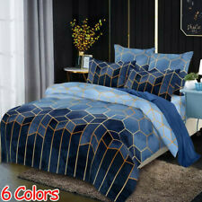 6 Colors Duvet Cover Set  8 Size Single Double Full Queen King Size