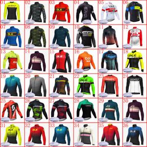 cycling Jersey 2021 Mens Team Winter thermal fleece MTB Bike long sleeve shirt
