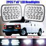 2x 7x6 Chrome 6000K Sealed Beam LED Headlights for Jeep Wrangler Cherokee XJ YJ