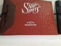 Vintage Souvenir Snapshot Album Waterbury Connecticut Salt State Marie Michigan