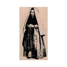NEW Saint Bernadette RUBBER STAMP, Saint Bernadette of Lourdes Stamp, Religious