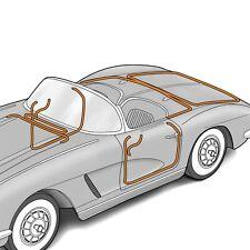 1961-1962 Corvette C1 8 Piece Door and Body Weatherstrip Kit 627981