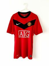Manchester United Home Shirt 2009. Small Adults. Nike. Red S Man Utd Top Only.