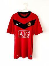 Manchester United Home Camicia 2009. i piccoli adulti. Nike. Rosso S Man Utd solo parte superiore.