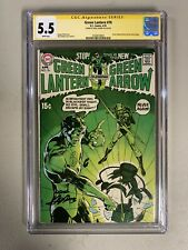 GREEN LANTERN #76 (1976) CGC 5.5 WHITE PAGES NEAL ADAMS SIGNED signature series
