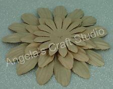 "9 x ""LIGHT BROWN"" Paper Flower Petals by Green Tara -3 Sizes- Scrapbooking Cards"