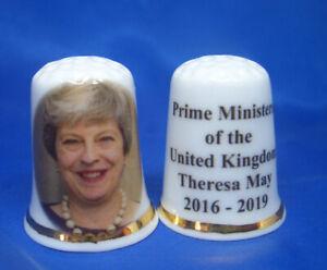 Birchcroft China Thimble -- Prime Ministers of UK -- Theresa May  -- Free Box