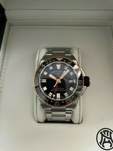 Armand Nicolet JS9-41 GMT, luxury Swiss Diver, Automatic A487ASN-NS-MA2481AA