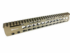 "12"" Flat Dark Earth, Free Float Handguard Slim Keymod Quad Rail,Steel Barrel Nut"