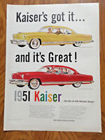 1951 Kaiser Frazer Ad  De Luxe Club Coupe & DeLuxe Sedan