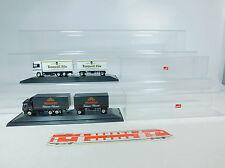 au851-1 #2x HERPA H0 Camion / MERCEDES / MB : Henninger + ERZQUELL, en vitrine