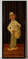 altes Holz Gemälde Clown Bild Motiv Handarbeit Impressionismus kleines Holzbild