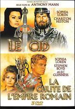 COFFRET 3 DVD ZONE COLLECTOR--LE CID + A CHUTE DE L'EMPIRE ROMAIN + BONUS--MANN