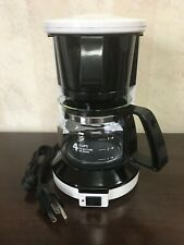 """Sunbeam"" #3279 4 Cup Commercial Coffee Maker in White/Black, NRFB"