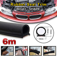 6M Big D Shape Car Door Window Trim Edge Moulding Rubber Weatherstrip Seal Strip