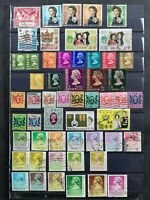 HONG KONG 1949-1987: C0LLECTION OF 54 USED STAMPS WITH GOOD VALUES