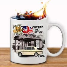 Personalised Ford Cortina Lotus MK2 Car Mug Cup Dad Custom Gift - Add Name