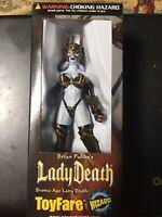 NEW IN BOX1999  Lady Death Toyfare Exclusive Wizard Bronze Age Action Figure Bin