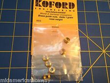 6 Koford Brass Guide Nut m615 1/24 Slot Car from Mid America Raceway