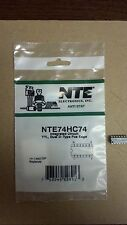 Nte Nte74Hc74 Integrated Circuit, Ttl, Dual D-Type Pos Edge