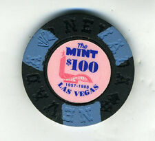 1957-1988 The Mint Las Vegas 100 Dollar Poker Chip