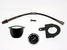 Black Oil Pressure Gauge Kit for EVO Big Twin Harley Davidson