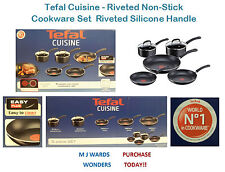 Tefal Cuisine - Riveted Non-Stick Cookware Set - Riveted Silicone Handle